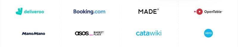 European logos on Stripe's site
